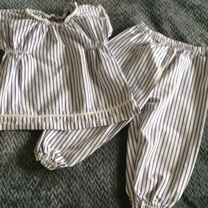 Victoria Beckham striped suit Sz 24M Target